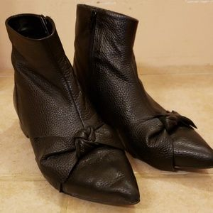 ASOS Leather Bow Boots